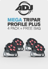 ADJ Mega TRIPAR Profile Plus 4 Pack with Free Bag