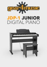 JDP-1 Junior Digitalpiano av Gear4Music, Matt Svart