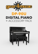DP-90U Upright Digital Piano by Gear4music + Accessory Pack
