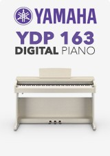 Yamaha YDP 163 Digital Piano, White Ash